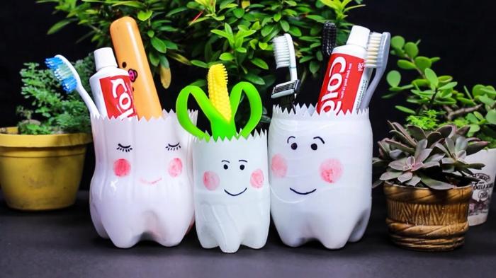 geniales ideas de cosas utiles para hacer de botellas de plastico, botellas de plastico decoradas, fotos de botellas DIY