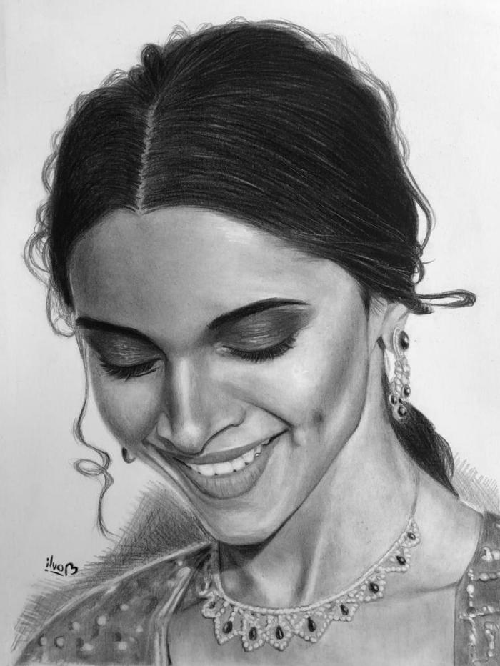fenomenales ejemplos de dibujos a carboncillo, fotos de retratos de mujeres hechos con lápices de carbón profesionales