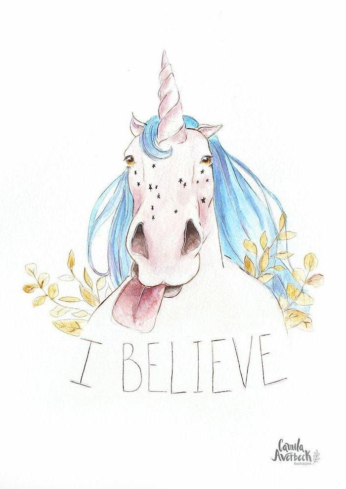 divertidas ideas de dibujos de unicornios para pintar, como dibujar un unicornio kawaii facil, dibujos a lapiz faciles