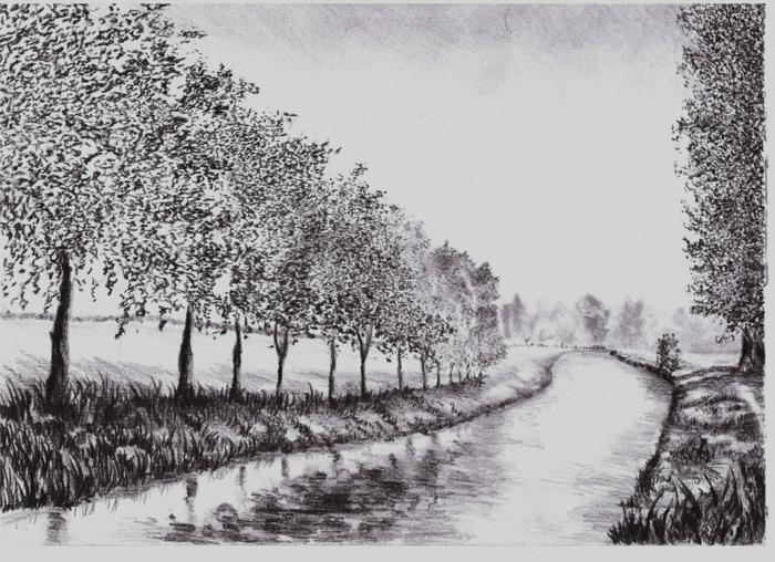geniales ideas de dibujos de paisajes en blanco y negro, dibujos de paisajes, dibujos realistas en fotos