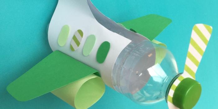 botella avión botellas de plastico decoradas, ideas juguetes originales y faciles de hacer, manualidades con reciclaje originales