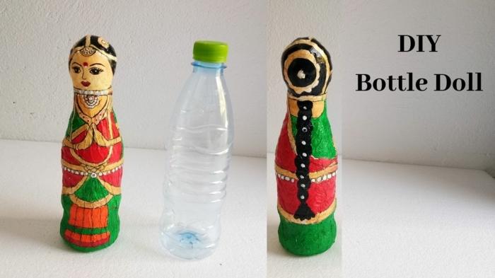 originales ideas de manualidades botellas de plastico decoradas, cosas para hacer con materiales de reciclaje en imagenes