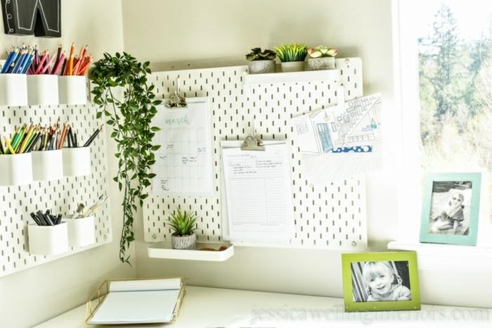 trucos sobre como organizar mejor tu sitio de trabajo en casa, ideas de teletrabajo,mesa oficina blanca decoracion moderna