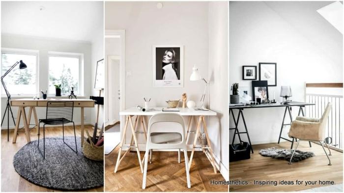 tres ejemplos de despachos modernos decorados con mucho estilo, despachos bonitos decorados en estilo escandinavo