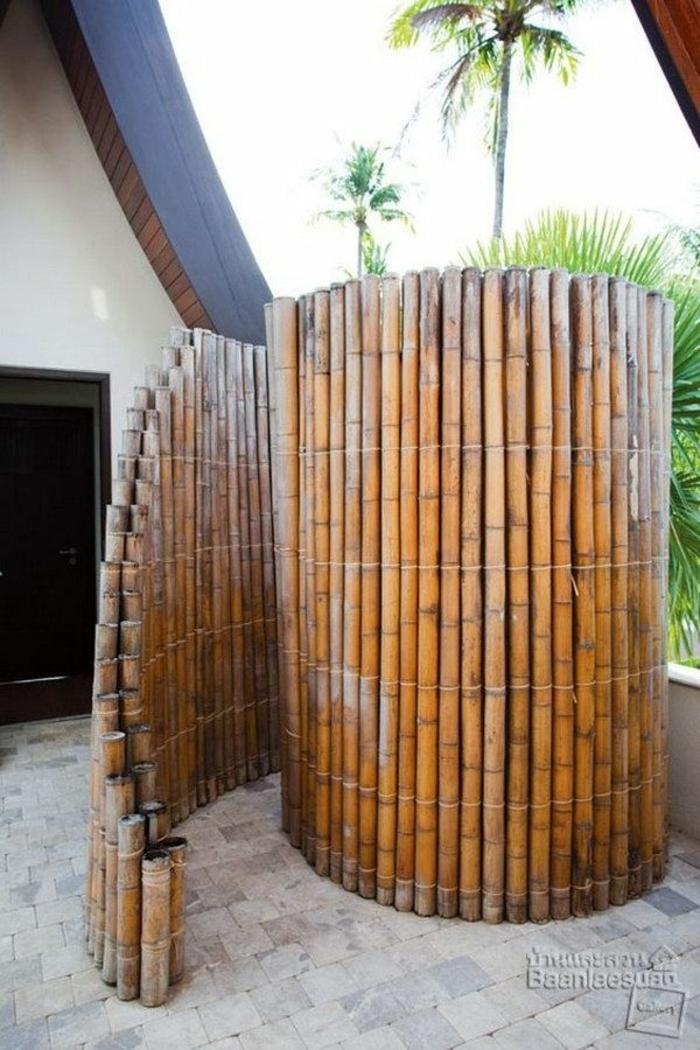 bonita decoracion para el jardin, fotos sobre como decorar el jardin, cañas bambu decoracion, originales ideas sobre como decorar el jardin