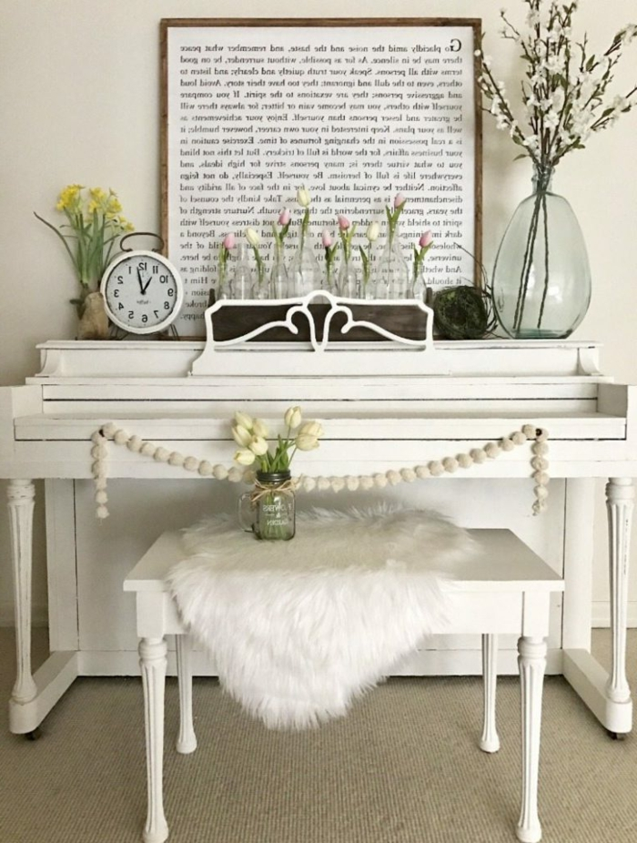 fotos de espacios en estlo vintage decorados con mucho encanto, ideas de decoracion en estilo vintage en blanco