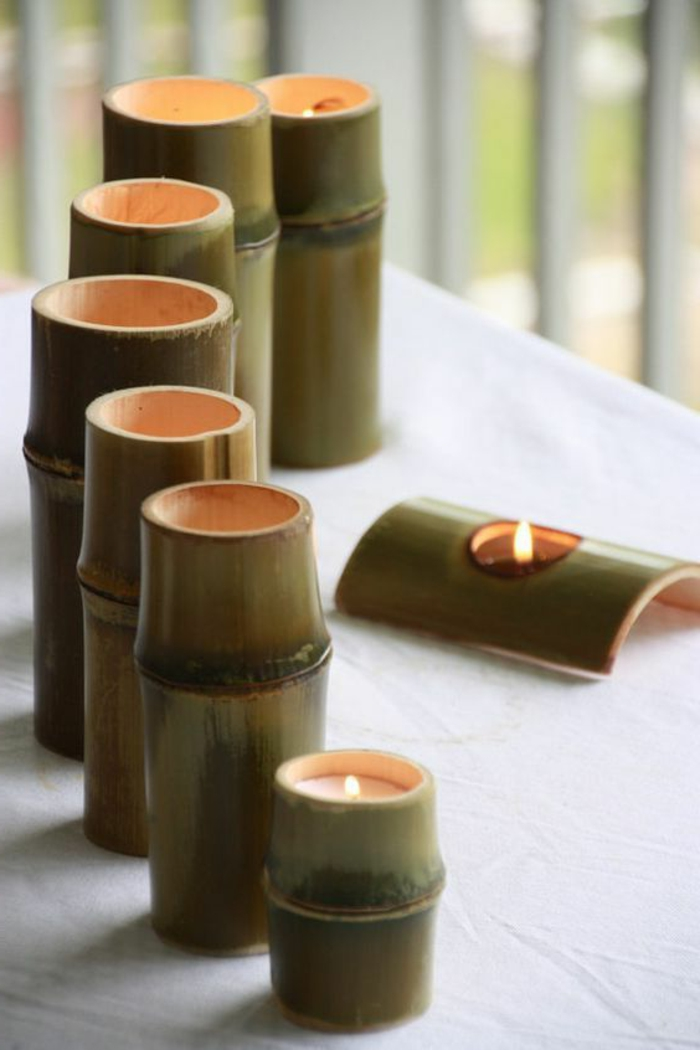 detalles en estilo zen para decorar la casa, 60 ejemplos de decoracion con bambu, cañas de bambu decoracion en fotos