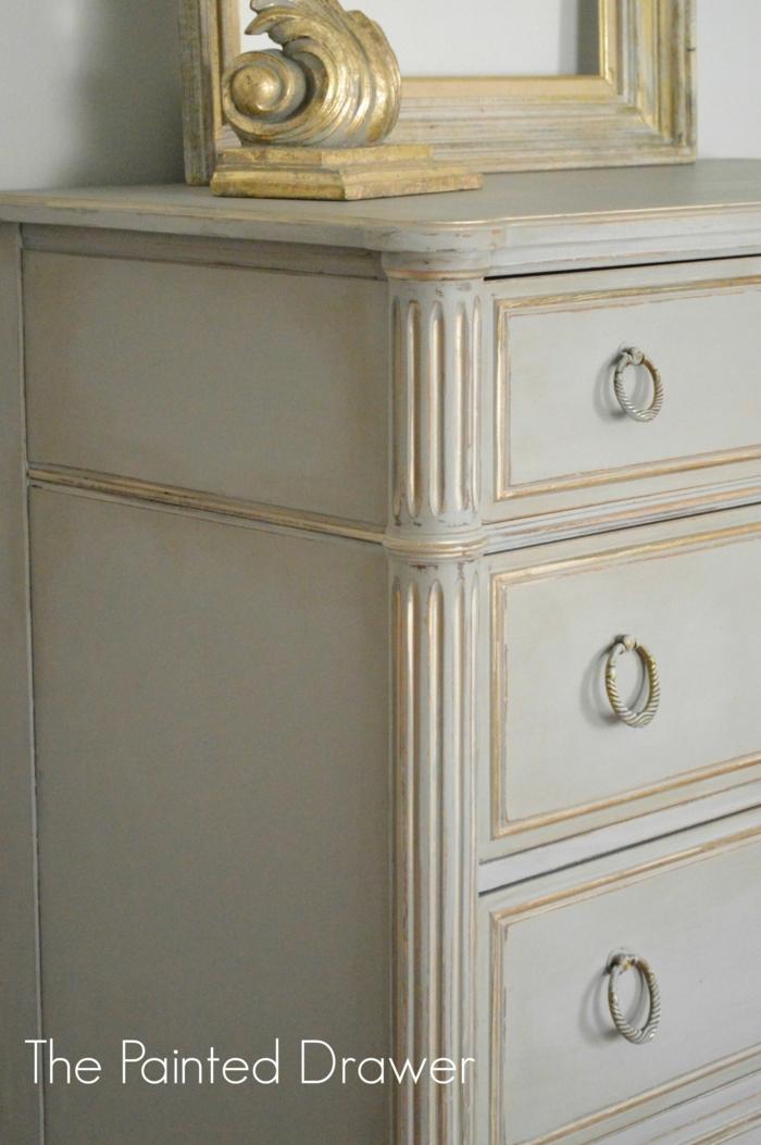 ideas para pintar muebles pintados a la tiza antes y despues, fotos de decoracion en estilo vintage con muebles de epoca