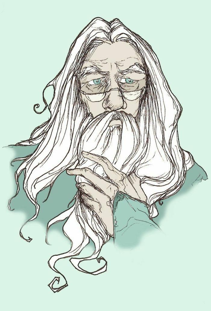 dibujo de nuestro favorito profesor de Harry Potter Dumbledore, harry potter para dibujar y otros personajes magicos del libro