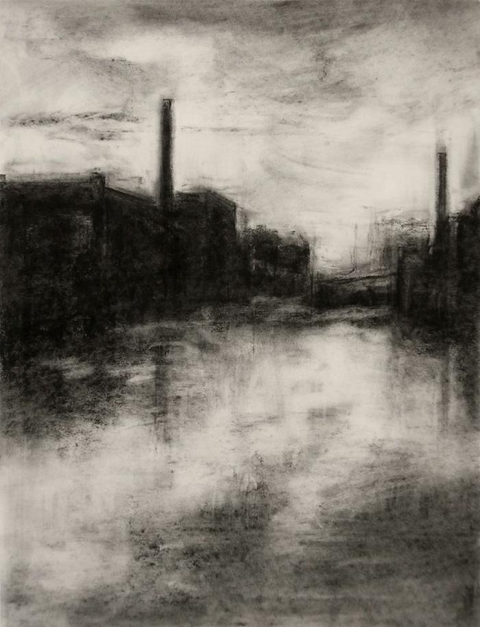 fotos de dibujos chulos de paisajes en blanco y negro, dibujos de paisajes, dibujos realistas, ideas de dibujos