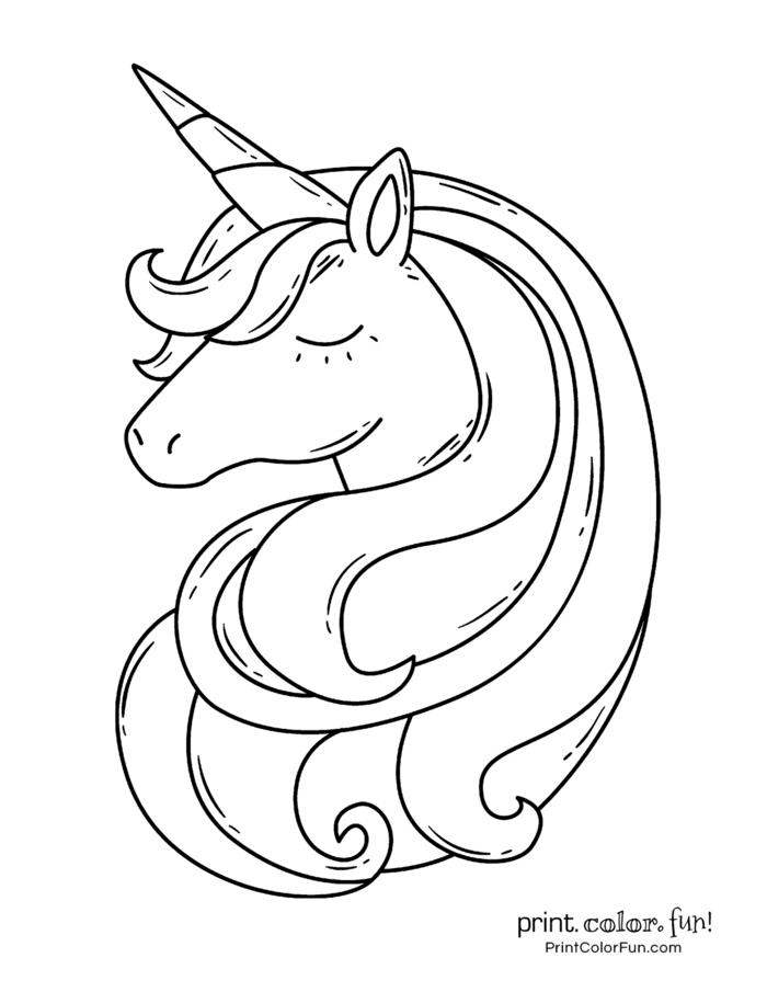 originales ideas de dibujos de unicornios, dibujos kawaii de unicornios, unicornio para pintar, unicornio dibujo facil, dibujo colorear unicornio