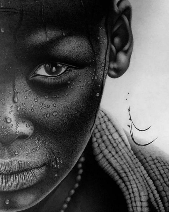 dibujos de personas a carboncillo, dibujos de paisajes, dibujos realistas, fenomenales ideas de dibujos en blanco y negro