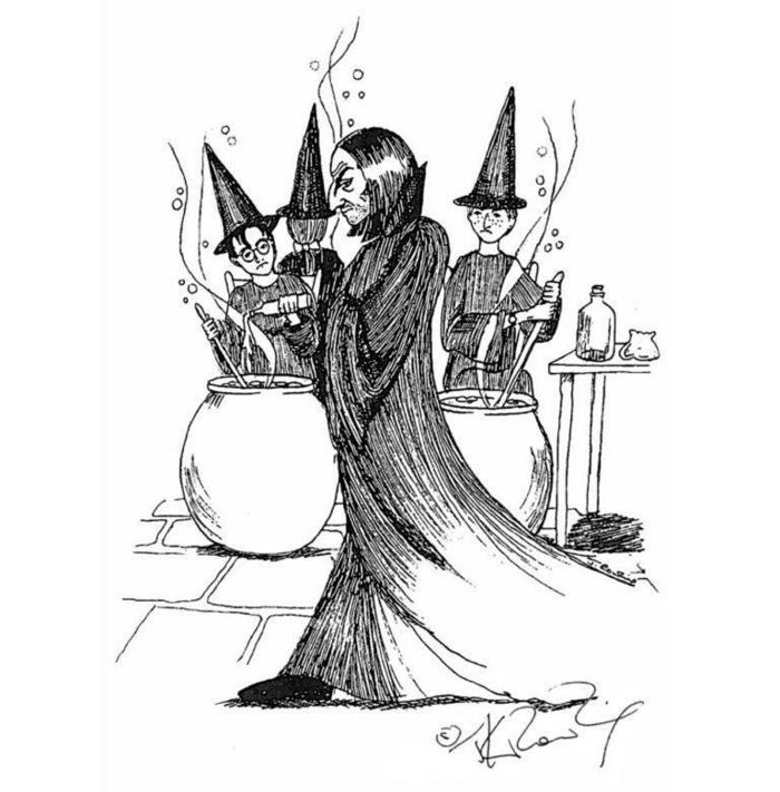 los mejores dibujos de Harry Potter a carboncillo, aprender a dibujar dibujos a lapiz paso a paso, dibujos faciles para dibujar