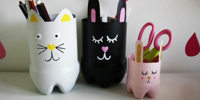 cajas para lapices originales con caras de gatos, manualidades en casa faciles y bonitas, manualidades para hacer en casa