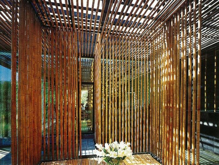 adorabbles ideas de espacios con bambu, cañas de bambu decorativas, fotos de detalles decorativos hechos de bambu