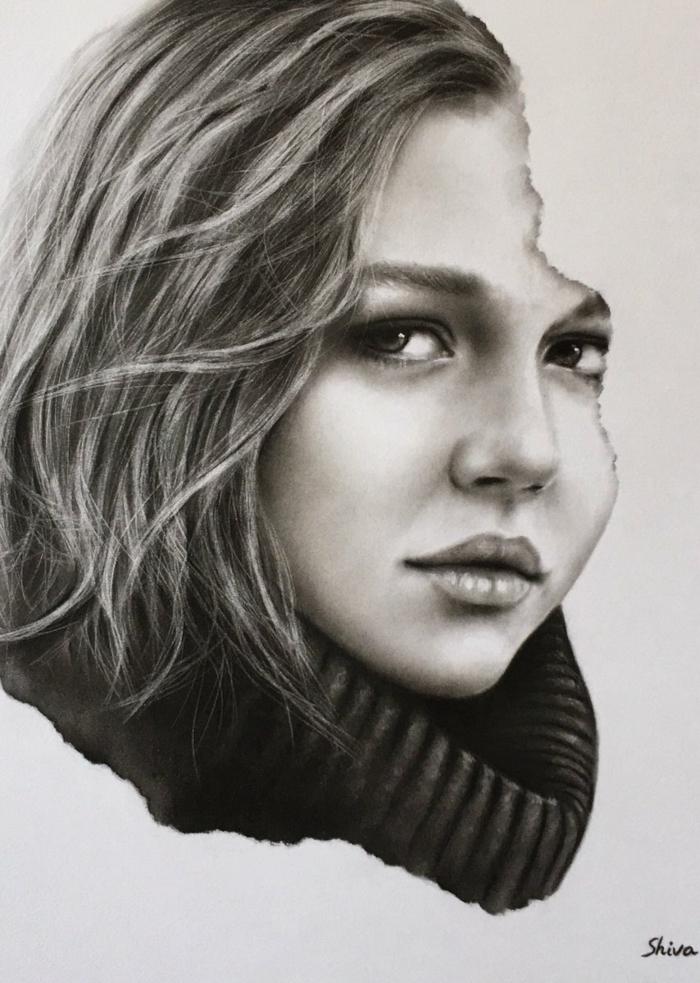 ideas de dibujos de mujeres, dibujos de paisajes, dibujos realistas, fotos de dibujos de mujeres inspiradores