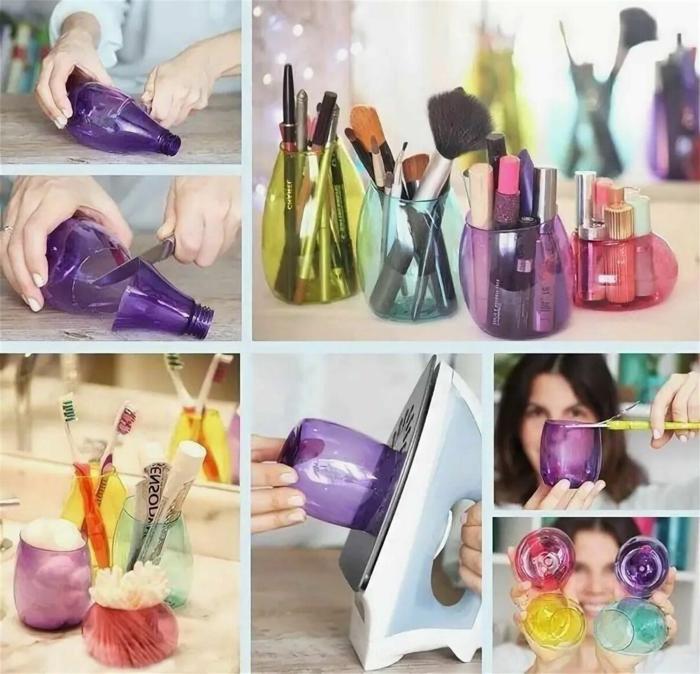 estuches y cajas de botellas de plastico, manualidades en casa faciles y divertidas, manualidades con botellas de plastico grandes