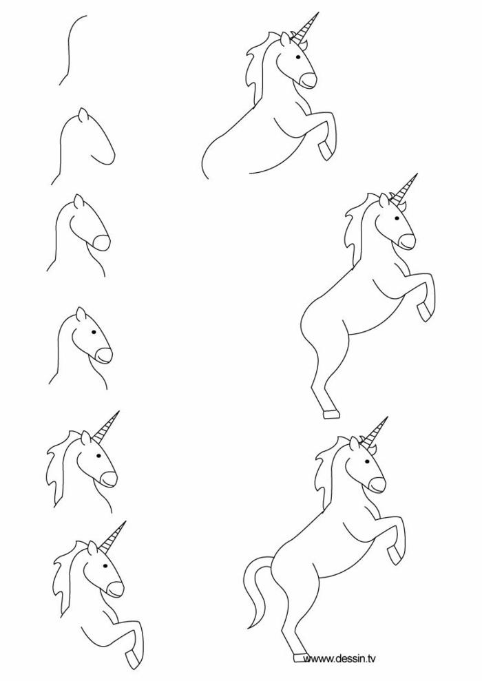 como dibujar un unicornio paso a paso, ideas de dibujos chulos y faciles de hacer, dibujos para colorear de unicornios, como dibujar un unicornio