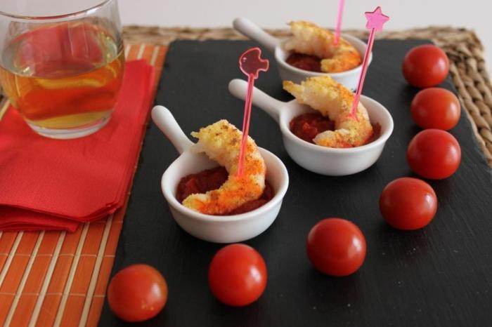 geniales ideas de tapas con mariscos, comidas mediterranea en fotos, aperitivos de verano, pinchos morunos, pinchos tapas