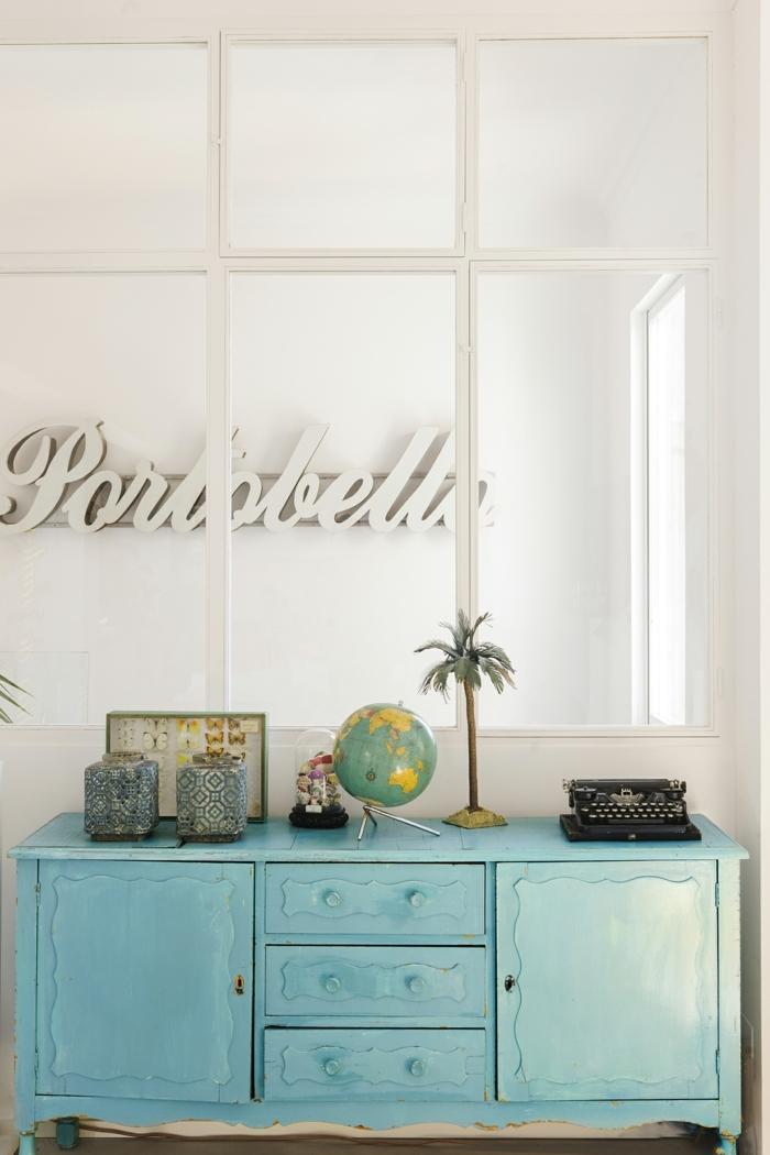muebles pintados a la tiza antes y despues, cofre pintado en color verde birllante, espacio decorado, muebles pintados a la tiza antes y despues