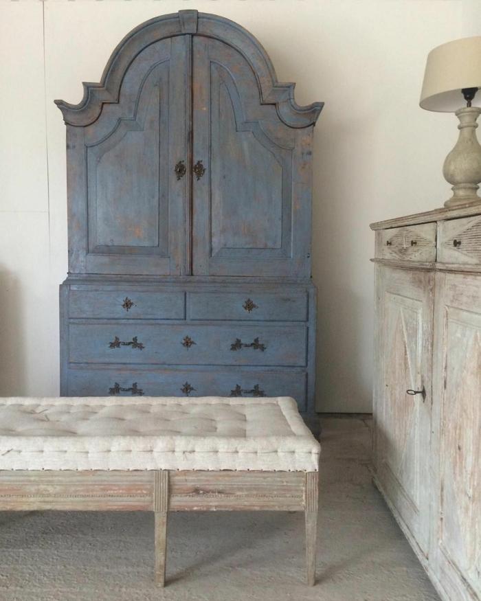 espacios decorados con muebles de epoca, ideas originales sobre como pintar con chalk paint, muebles pintados a la tiza antes y despues