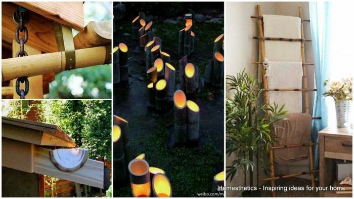 cuatro geniales ideas de detalles hechos con bambu, decoracion con palos de bambu, fotos de decoracion casera zen