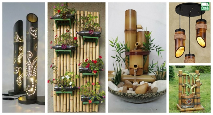 pequeños detalles decorativos, cañas de bambu decoracion, ideas decorativas bonitas para exteriores e interiores con bambuu, cañas bambu decoracion