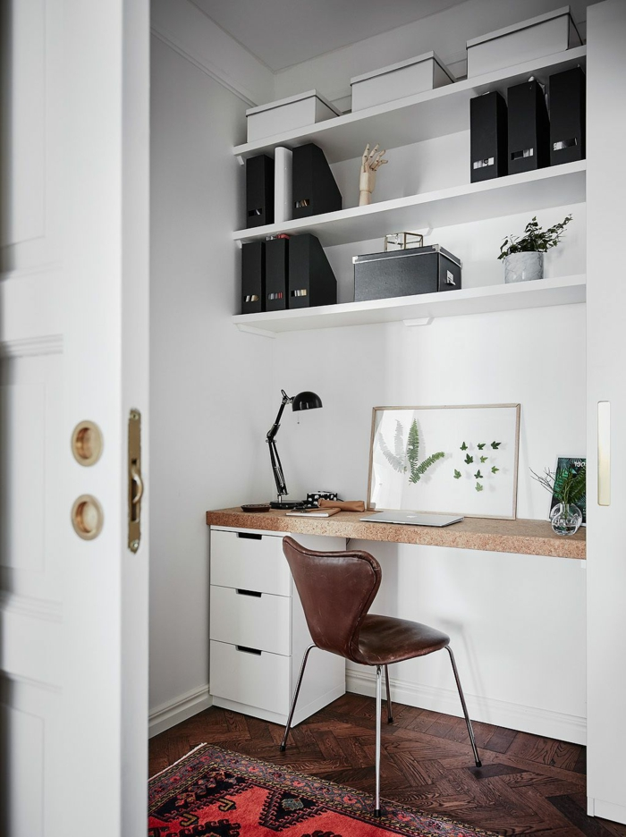 ideas decorativos para tu despacho en casa, trucos para optimizar el espacio en tu casa, mesa escritorio ikea en fotos
