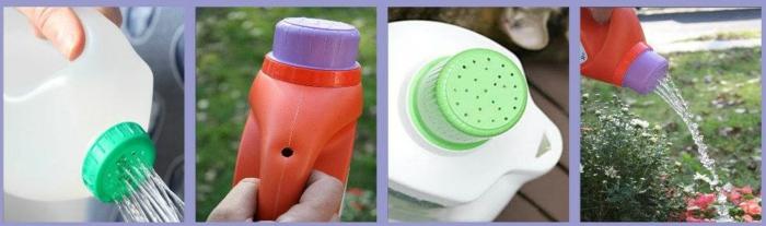trucos para el jardin con botellas recicladas, ideas de utensilios para el jardin, cosas para hacer con botellas de plastico