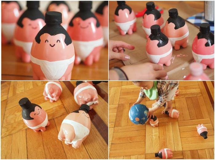 ideas de juguetes para tu pequeño hechos con reciclaje, manualidades con botellas de plastico grandes, fotos de tutoriales de manualidades