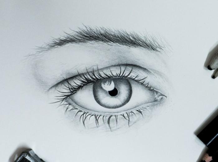 dibujos de ojos de mujer inspriadores, espectaculares ideas sobre como dibujar personas a carboncillo