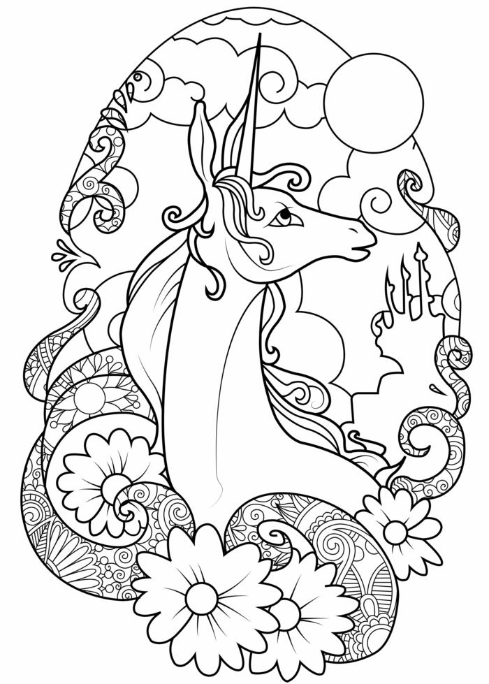 las mejores ideas de diubjos para colorear para niños y adultos, unicornios dibujos kawaii, dibujos de unicornios para pintar