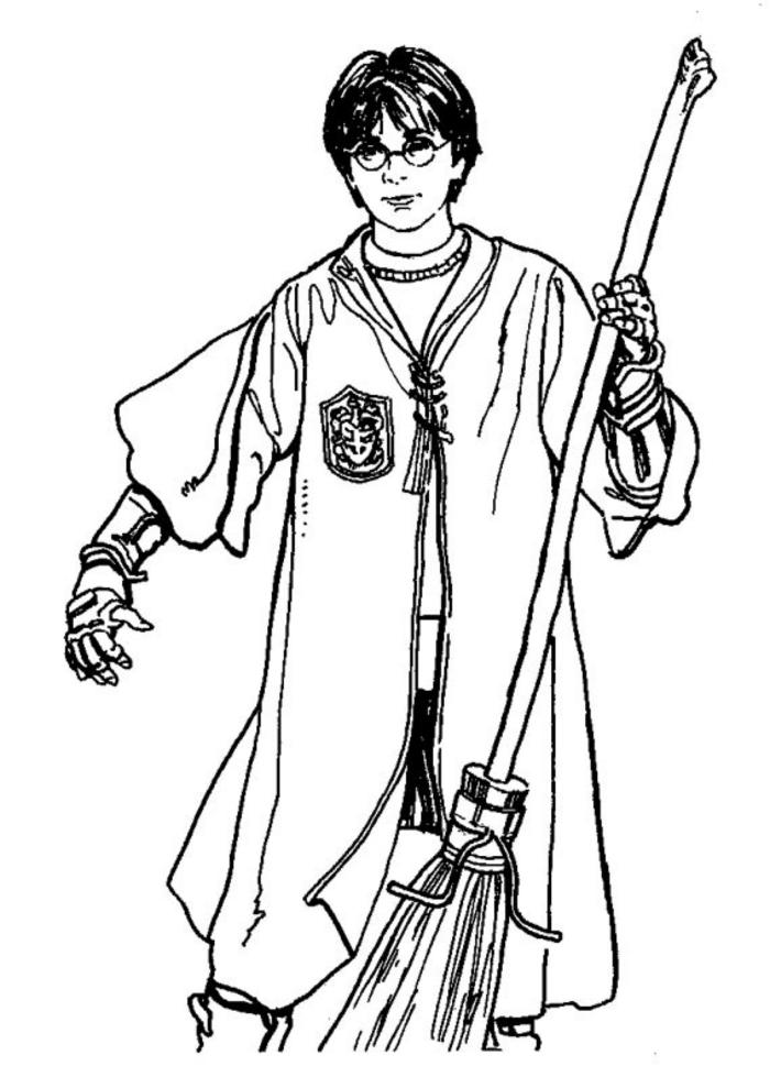 fenomenales ideas de dibujos de Harry Potter para colorear, los mejores ejemplos de dibujos del hechicero mas famoso