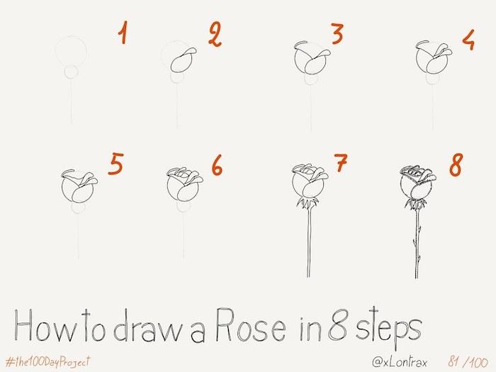а dibujar una rosa paso a paso dibujos de rosas a lapiz fotos de dibujos tutoriales faciles en lapiz