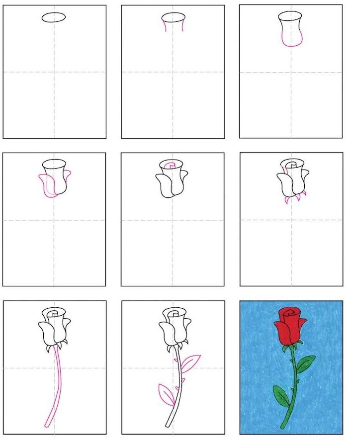 а dibujar una rosa paso a paso dibujos de rosas faciles0flores dibujos a lapiz ideas de dibujos