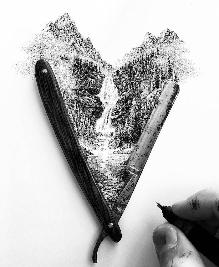 0 aprender a dibujar paisajes en blanco yn negro en estilo realista dibujos originales chulos dibujos de paisajes para colorear