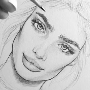 Dibujos inspiradores e ideas sobre cómo dibujar una cara