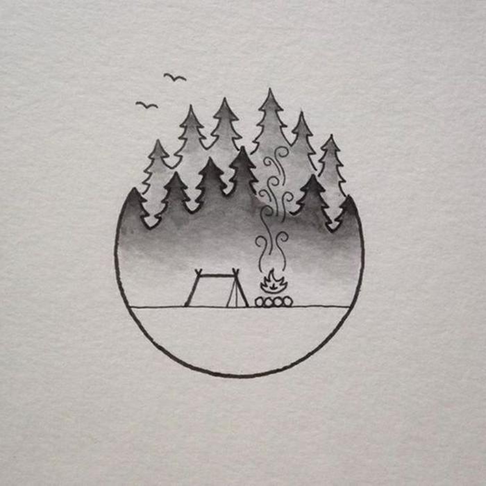 fantasticas ideas de pequeñas cosas para redibujar, dibujos chulos y faciles de hacer en casa paso a paso