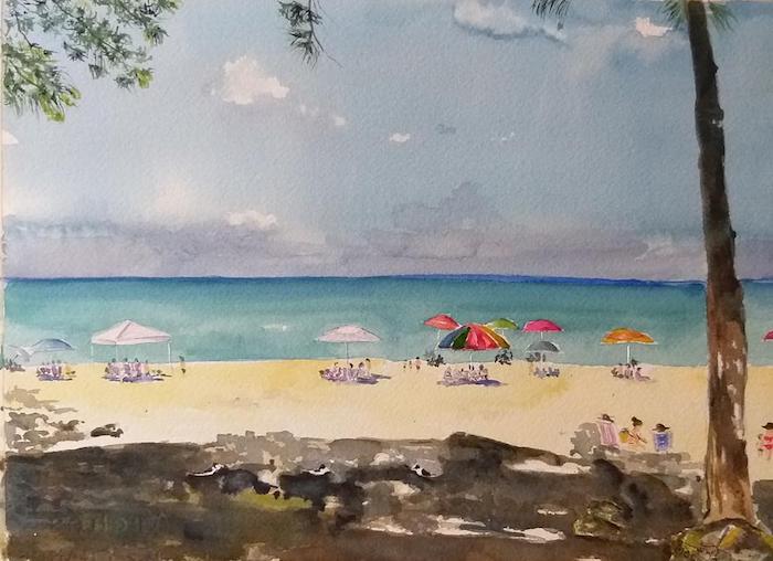 1 dibujos del mar playa arena gente ideas de dibujos de paisajes del mar que enamoran paisajes dibujos a lapiz