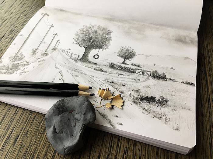 1 fenomenales ideas de dibujos de paisajes dibujos a lapiz bonitos ideas de dibujos en blanco y negro arboles montañas