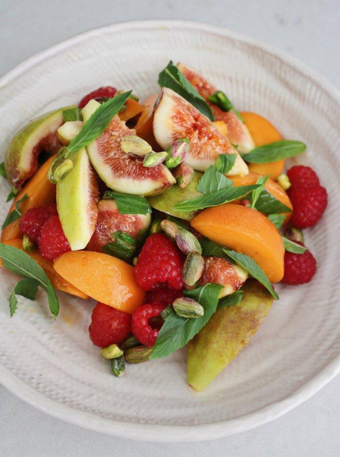 ideas de ensaladas caseras con frutas, como hacer una ensalada con higos paso a paso, postres faciles para impresionar