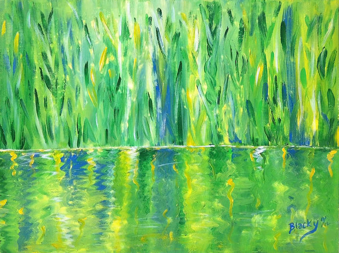 1 las mejores ideas de dibujos de paisajes faciles dibujos de naturaleza colores intensos verde azul ideas de dibujos inspiradores