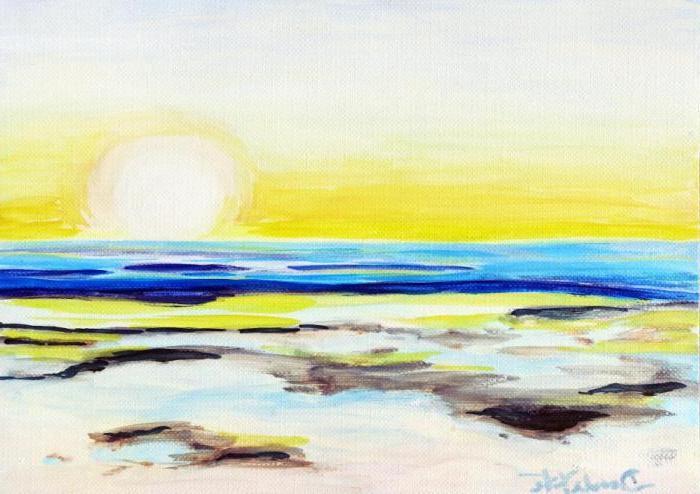 3 dibujos del mar sol cielo amarillo mar dibujos de paisajes naturales fotos de dibujos del mar faciles de hacer