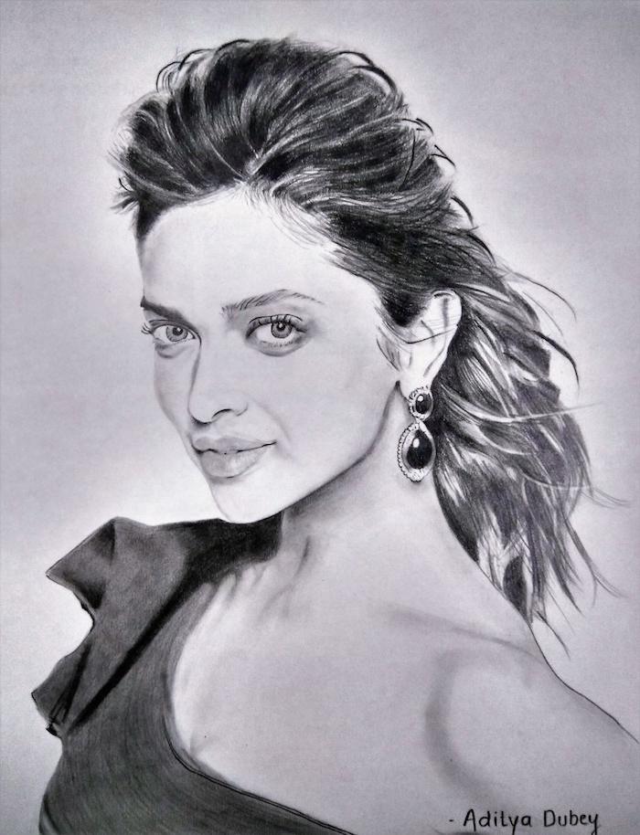 las mejores ideas de dibujos de mujeres bontias, fotos de dibujos a lapiz, como dibujar una cara de mujer paso a paso