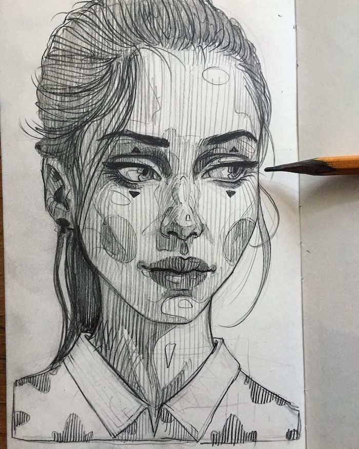 ideas unicas de dibujos de mujeres originales hehcos a lapiz, fotos de dibujos chulos y faciles de hacer de personas