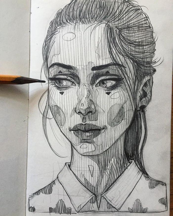 las mejores ideas sobre como dibujar la cara de una mujer de una manera original, cara de perfil, cara niño dibujo, dibujo cara mujer,
