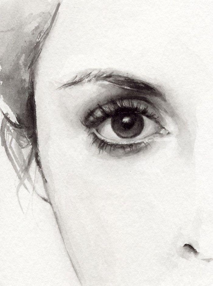 fascinantes ideas sobre como dibujar una cara de mujer, fotos de caras realistas, ideas de dibujos originales