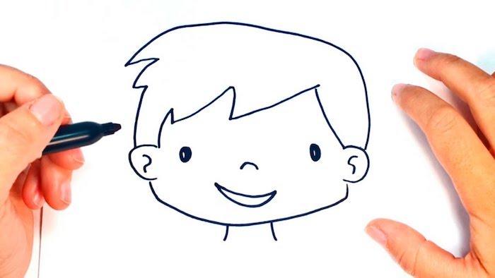 dibujos de cara faciles, dibujos a lapiz faciles para principiantes, fotos de dibujos para niños y principiantes