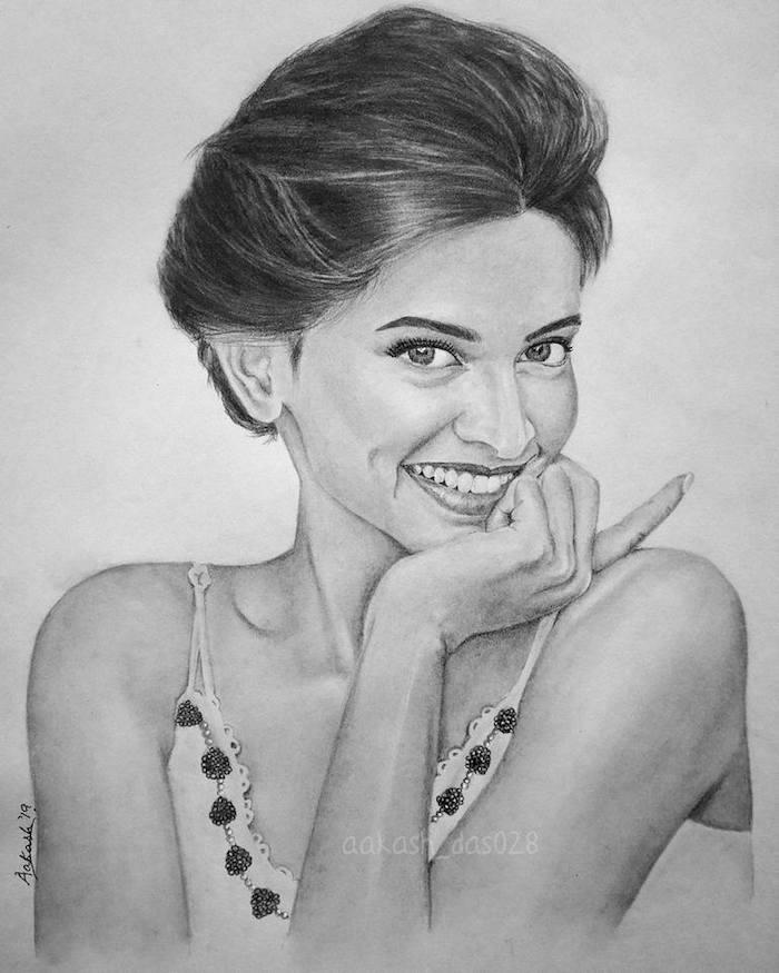 dibujos de celebridades que inspiran, ideas sobre como dibujar una mujer a carboncillo, cara de perfil, cara niño dibujo, dibujo cara mujer