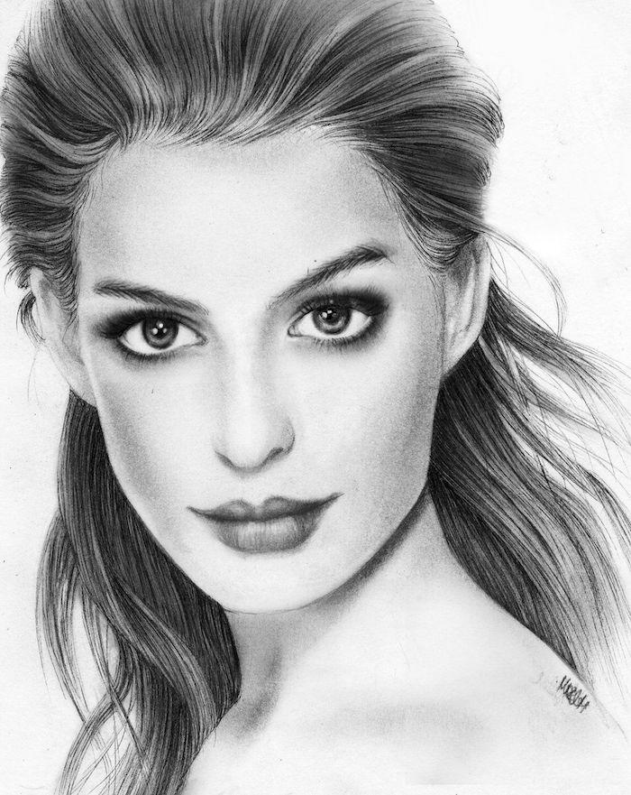 los mejores ideas de dibujos de mujeres, como dibujar una cara paso a paso, ideas de dibujos inspiradores de mujeres